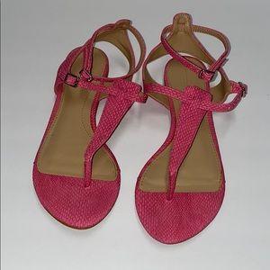 zara snake skin pink thong sandals
